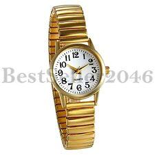 Stylish Ladies Women Girl Gold Tone Stainless Steel Analog Quartz Wrist Watch