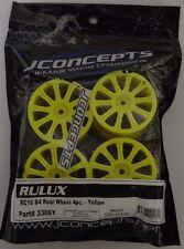 JConcepts 3306Y Rulux RC10 B4 Rear Wheel 4pc Yellow