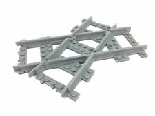 Lego train track - crossed tracks 45deg RIGHT VERSION  custom made 3d printed!