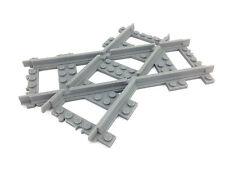 Lego train track - crossed tracks 45deg RIGHT VERSION  custom made 3d printed!