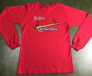 Vintage Youth XL 80s St. Louis Cardinals MLB Baseball Longsleeve Graphic T-Shirt