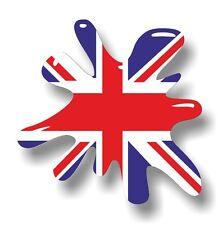 Retro Vieja Escuela Splat & Union Jack Británico GB Bandera Vinilo Coche Camioneta Adhesivo Calcomanía