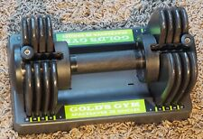 1 Gold's Gym SPACE SAVER Adjustable 25lbs DUMBBELL WEIGHTS - Very Good Condition