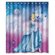 Cinderella Cartoon Princess Polyester Waterproof Bath Shower Curtain 60 x 72