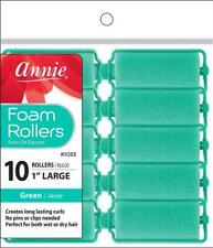 """Annie Large Foam Rollers - Hair Rollers- 1"""" Diameter - 10-Pack - #1053 - *GREEN*"""