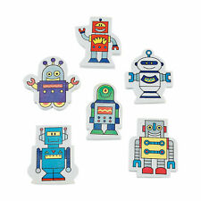 Robot Erasers - 24 Pc. - Stationery - 24 Pieces