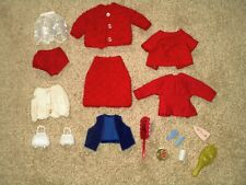 Vintage Ideal Tammy Doll clothes (knits, home made), accessories - nice