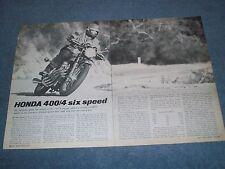 1975 Honda 400/4 Six Speed Super Sport Vintage Motorcycle Info Article