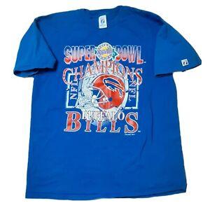 Logo 7 Buffalo Bills Super Bowl XXVIII Champions NFL 1994 Phantom T Shirt XL
