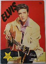 1981 Elvis Presley Elvisly Yours Birthday Tribute King Magazine Poster Foldout