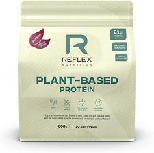 Reflex Nutrition Plant Based Vegan Protein | with B12 | Great Taste | Vegan |