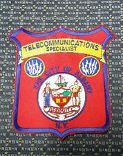 ALBANY, NEW YORK  TELECOMMUNICATIONS SPECIALIST POLICE SHOULDER PATCH NY