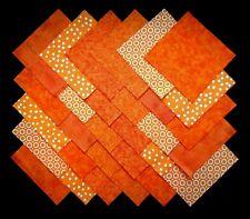 """ORANGE 5"""" Squares,100% Cotton Prewashed, Quilt Block Quilting Fabric (#29B)"""