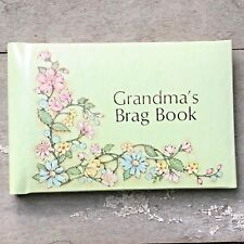 GRANDMA'S BRAG BOOK Photo Album BABY Snapshot Picture Flowers Vintage CR GIBSON