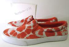 Lauren Ralph Lauren CEDAR TYEDYE Leather Fashion slip-on Shoes orange Size 7.5
