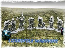 Lizard folk Warriors Set of 7 Miniatures 28mm Dungeons and Dragons DnD Mini