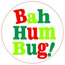 30 Bah Humbug Novelty Vinyl Stickers for Christmas Scrooges fun Labels for xmas