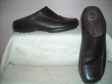 Bass Women's Maxine Dk. Brown Leather Mules Clogs Slip On Shoes Size 9M