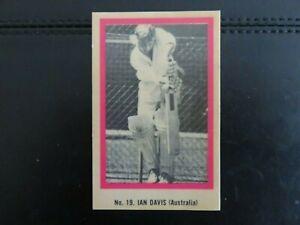 1974 SUNICRUST BREAD CRICKET CARD #19 IAN DAVIS. EXCELLENT.