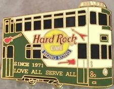 Hard Rock Cafe HONG KONG 2001 Green/Tan Double Decker TRAM BUS PIN - HRC #3024