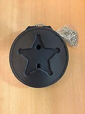 Recessed Badge Holder For 5 Point Star, Police, Sheriff, Marshal
