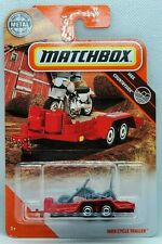 2020 Matchbox Red Cycle Trailer #99 W Case