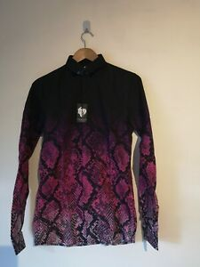 Twisted Tailor shirt with snakeskin fade print in pink - XS - RRP £55.00 - (135)