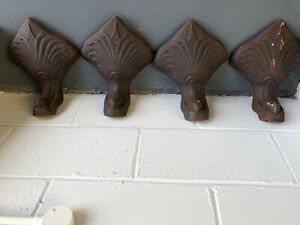 Cast Iron Slipper Bath Claw Feet x4