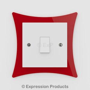 Double / Single Light Switch Plug Socket Back Plate Finger Surround Panel (009)