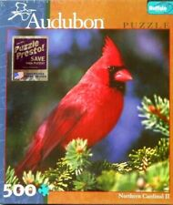 "PUZZLE - JIGSAW BUFFALO GAMES AUDUBON ""NORTHERN CARDINAL II"" 529 PIECES - NIP!"