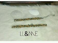 Leopard print velvet choker