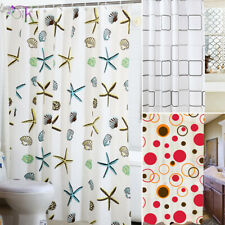 Modern Bathroom Shower Curtain Extra Long Wide 180 x Drop 200 cm With Hooks UK