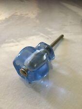 "4) BLUE MILK GLASS DRAWER KNOB's 1 1/4"""