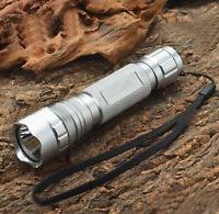 Silver WF-501B CREE XM-L T6 LED 1000LM 1 Mode Flashlight Torch Ultra Fire