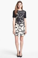 NEW TIBI 4.COLLECTIVE Print Short Sleeve Shift DRESS SIZE 14 $300 SOLD OUT