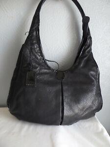 """Radley black leather large size 14""""w x 11""""h shoulder bag with 1 handle"""