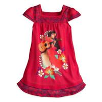 Disney Princess Elena of Avalor Nightshirt for Girls 9-10 Red New