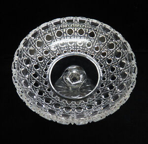 German Crystal Pedestal Compote / Candy Dish Bowl