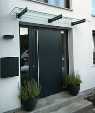 Edelstahl Vordach inkl. VSG in allen Größen von 120cm bis 10 Meter VSG Breite
