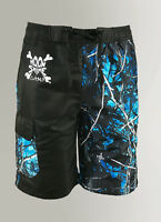 Men's Black & Blue Camouflage Swim Suit | Undertow Camo Design Board Shorts