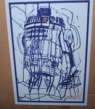 STAR WARS R2D2 Art Postcard Handbill 5X7 like poster print Joshua Marc Levy