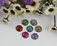 60pcs mixed colors acrylic rhinestone round cabochon 14mm #22172