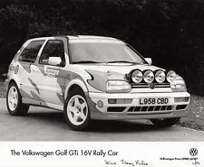 THE VOLKSWAGEN GOLF GTI 16V, RALLY CAR, PERIOD PHOTOGRAPH.