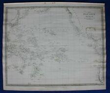 More details for pacific ocean, polynesia, original antique map sduk 1844