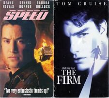 Speed (VHS, 1996) & The Firm (VHS, 1993) -  2 Action & Adventure VHS Tapes