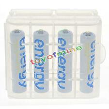 4xAAA 2000mAh Energia batteria ricaricabile bianco per MP3 RC+1xCaso