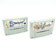 Dragon Quest V VI / 5 & 6 - Lot 2 jeux Super Famicom / SNES / SNIN - NTSC-J JAP