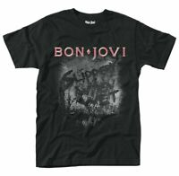 Bon Jovi T Shirt Slippery When Wet Official Black Mens Unisex Tee Rock New
