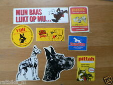 STICKER,DECALS SET ANIMALS DOGS, HONDEN LOT OF ABOUT 25 STICKERS SEE PICTURES