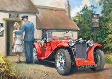 MG PA Car RAF Pilot Classic Car Birthday Fathers Day Card